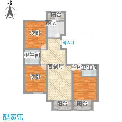 江山逸景117.48㎡P户型3室2厅2卫1厨