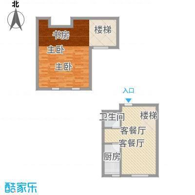 江山逸景95.53㎡S1户型1室1厅1卫1厨