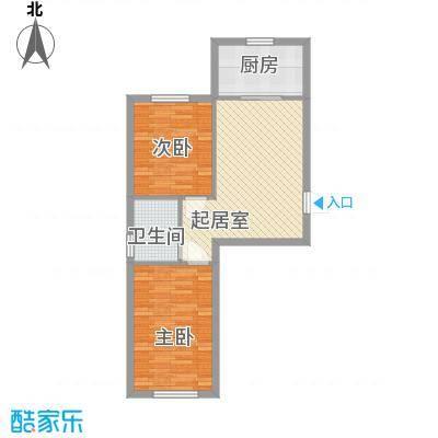 峰云印象60.00㎡B户型2室1厅1卫1厨