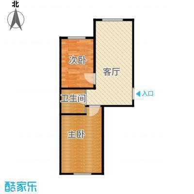 新地山湾57.96㎡A3户型2室1厅1卫