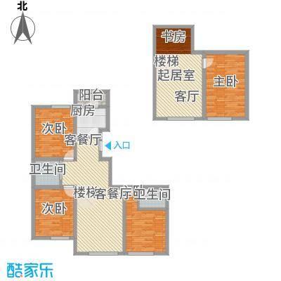 江山逸景167.08㎡P1户型4室3厅2卫1厨