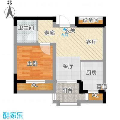 帕萨迪纳54.95㎡GB户型1室2厅1卫