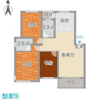 华茂依山君庭115.00㎡户型115户型3室2厅2卫1厨
