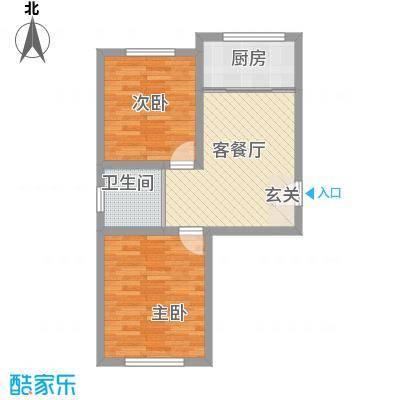 华茂依山君庭67.00㎡户型67户型2室1厅1卫1厨