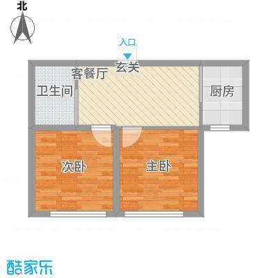 华茂依山君庭58.00㎡户型58户型2室1厅1卫1厨