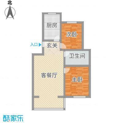 广厦・凤凰城91.00㎡F户型2室2厅1卫1厨