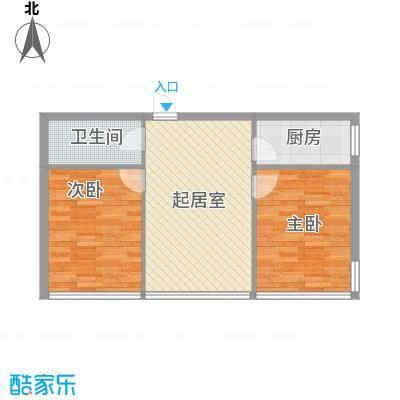 锦绣江南82.00㎡F户型2室1厅1卫1厨