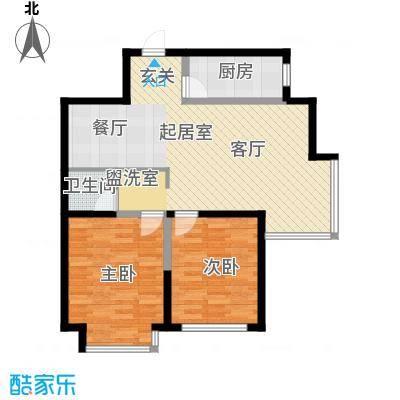 盈胜毓园90.66㎡H3玉花台户型2室2厅1卫1厨