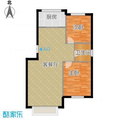 香山景园89.27㎡户型2室1厅1卫1厨