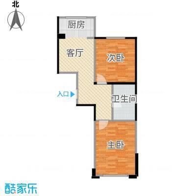 香山景园70.01㎡户型2室1厅1卫
