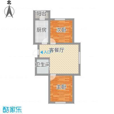 江山逸景73.29㎡Q户型2室1厅1卫1厨