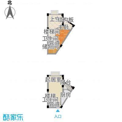 香木林加州国际40.03㎡香木林加州国际户型图C1型1室2厅2卫1厨户型1室2厅2卫1厨