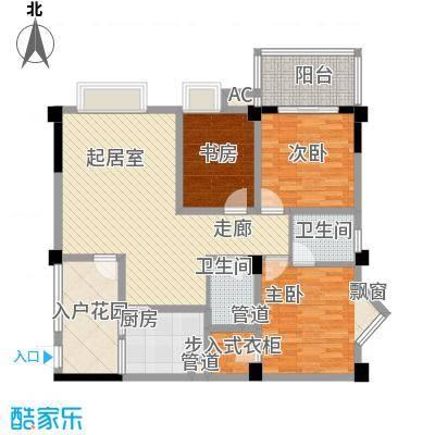 香木林加州国际114.50㎡香木林加州国际户型图D1型`3室2厅2卫1厨户型3室2厅2卫1厨
