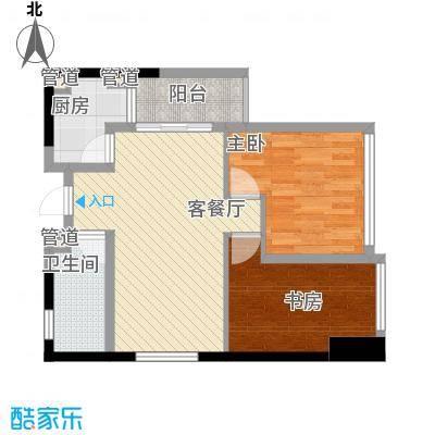 江宇天府城SOHO--E1户型2室2厅1卫1厨