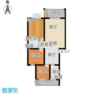 安信花园105.25㎡安信花园户型图C3室2厅1卫1厨户型3室2厅1卫1厨