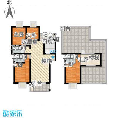 安信花园156.56㎡安信花园户型图E型跃4室3厅3卫1厨户型4室3厅3卫1厨
