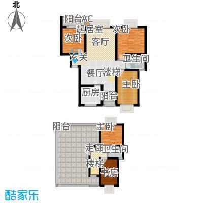 安信花园161.36㎡安信花园户型图D2型跃4室3厅2卫1厨户型4室3厅2卫1厨