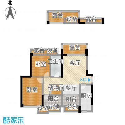 保利香雪92.00㎡2号楼2-1-01户型1厅1卫1厨