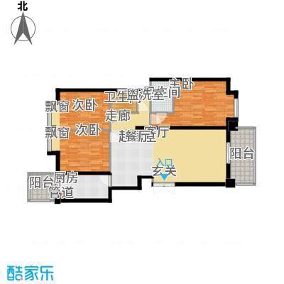 新北佳苑126.40㎡新北佳苑户型图E型3室2厅2卫1厨户型3室2厅2卫1厨