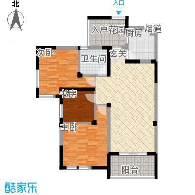 中海名城三期104.00㎡中海名城三期2室户型2室
