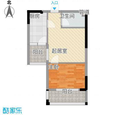 三和南锦47.51㎡三和南锦户型图二栋(电梯)A型1室1厅1卫1厨户型1室1厅1卫1厨