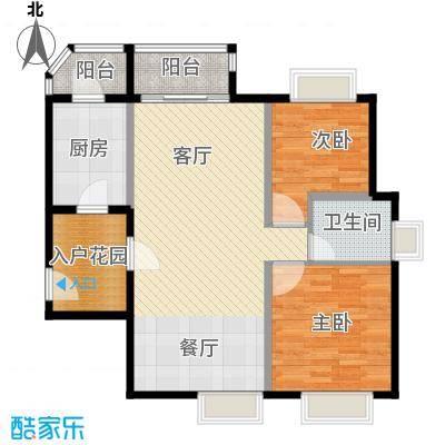 南城都汇御天下89.00㎡三期汇馨园5栋3-17层奇数层2号房户型2室1厅1卫1厨