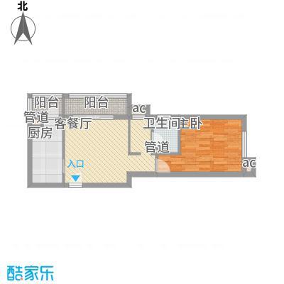 定福家园62.80㎡H、H反户型1室1厅1卫1厨