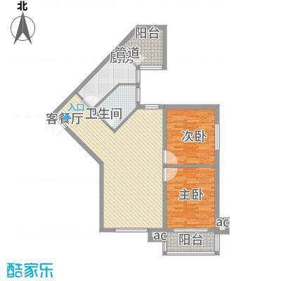 定福家园111.69㎡J、J反户型2室1厅1卫1厨