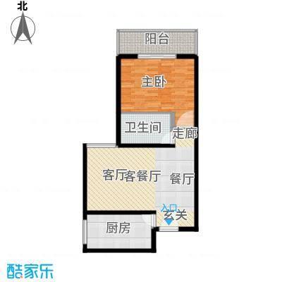 九台2000家园73.94㎡户型1室1厅1卫1厨