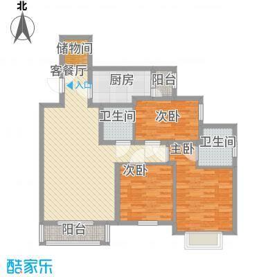 艺水芳园119.88㎡7号楼D户型3室2厅2卫1厨