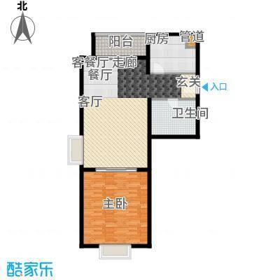 傲城尊邸95.00㎡北区一号楼A户型1室1厅1卫1厨
