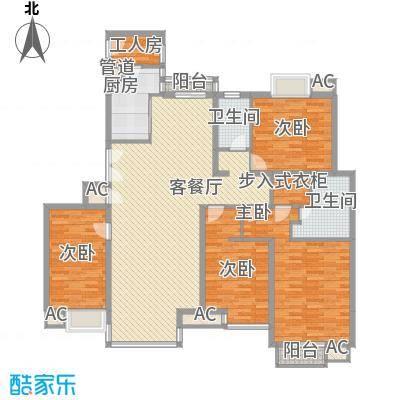 东润枫景196.50㎡S2户型4室2厅2卫1厨