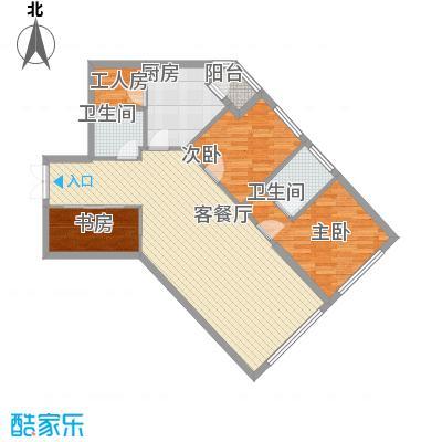 阳光100国际公寓114.65㎡D户型4室3厅2卫1厨