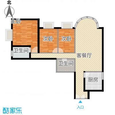圣馨大地家园户型2室2厅2卫1厨