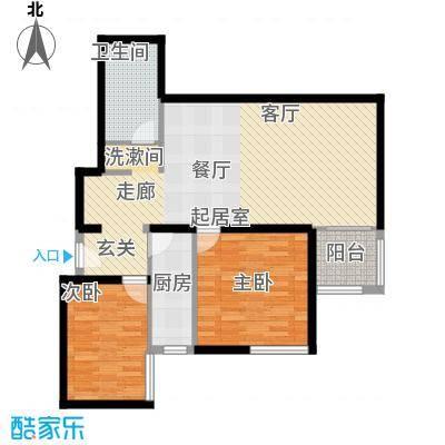 电子城小区84.14㎡电子城小区户型图户型图2室1厅1卫1厨户型2室1厅1卫1厨