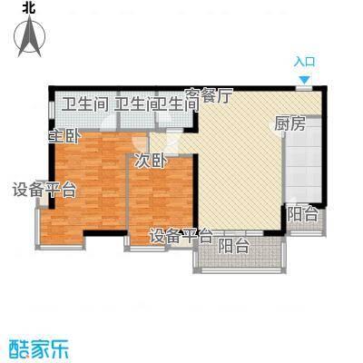 北京青年城110.89㎡隽秀青春户型2室2厅2卫1厨