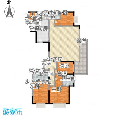富力十号A1栋一单元01室标准层(奇数层)户型4室2厅5卫1厨