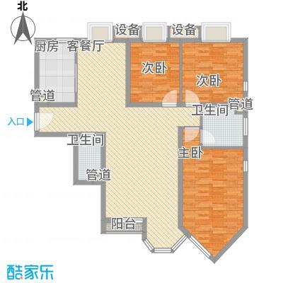 珠江罗马嘉园四期143.29㎡3期3区6号楼F户型3室2厅2卫1厨