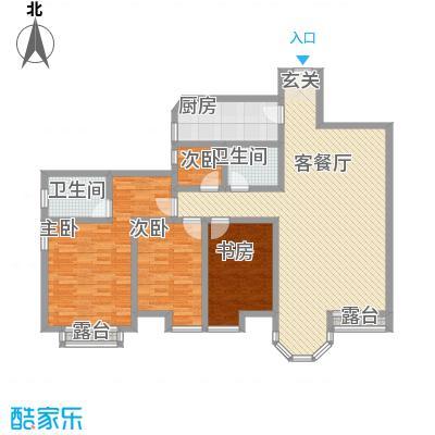 珠江罗马嘉园四期户型3室2厅2卫1厨