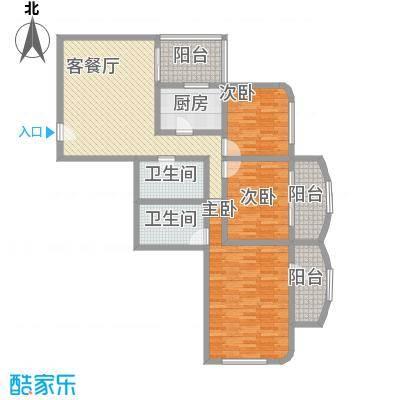 朝阳嘉园145.72㎡户型3室1厅2卫1厨