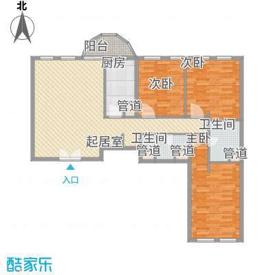 阳光广场三居室户型3室1厅1卫1厨