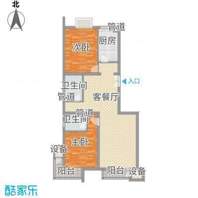 金隅凤麟洲103.00㎡2#2B反改户型2室2厅2卫1厨