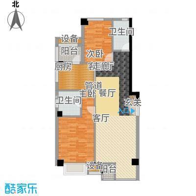 傲城尊邸126.83㎡东区19#G户型2室2厅2卫1厨