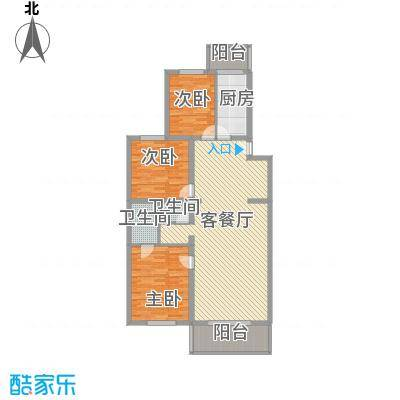 鑫兆丽园亚北新区户型3室1厅1卫1厨
