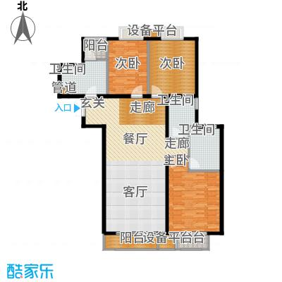 新华联丽景153.21㎡F户型3室2厅2卫1厨
