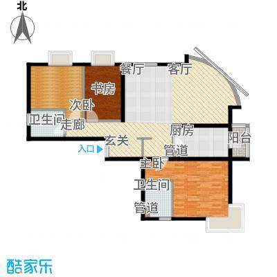 新华联丽景138.82㎡M户型3室2厅2卫1厨