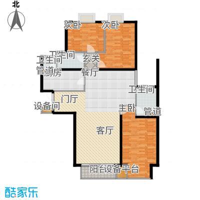 新华联丽景154.60㎡D户型3室2厅2卫1厨