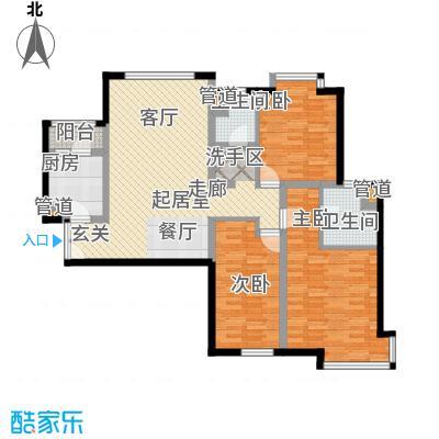 双花园西里户型3室2厅2卫1厨