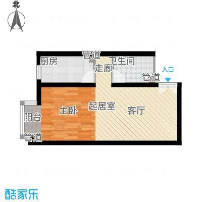 万方景轩户型1室1厅1卫1厨