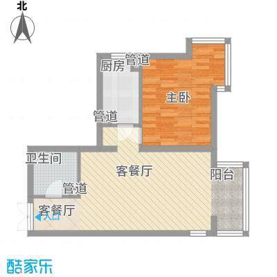 上东上品73.88㎡塔楼B、G户型1室2厅1卫1厨